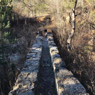 aqueduc des sagnières à Clamensane randonnée