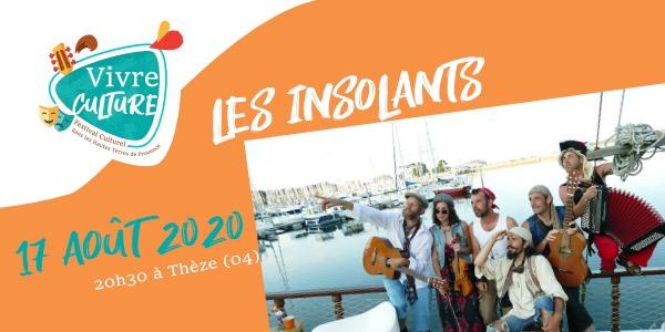 Les insolants de Rennes en concert dans les ALpes de Haute provence Vivre Culture